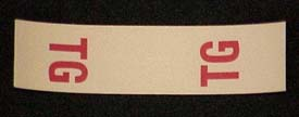 1967-1979 Corvette Master Cylinder Bail Label Decal Tg