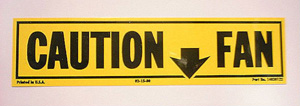 1981-1982 Corvette Fan Caution Decal  (code 14030122)