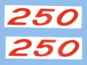 Valve Cover Decal pair 250 HP (Code 3751066)