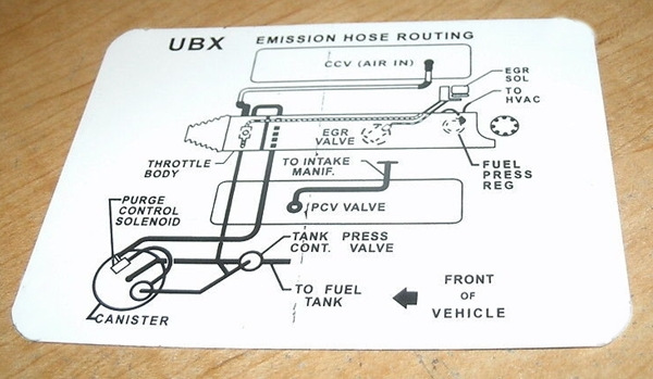 1985 Corvette Emission Decal Hose Routing 205 Hp Automatic Or Manual Transmission Code Unc