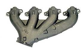 1966-1974 Corvette RH Exhaust Manifold - 2.5 Inch 427/454 Without Air