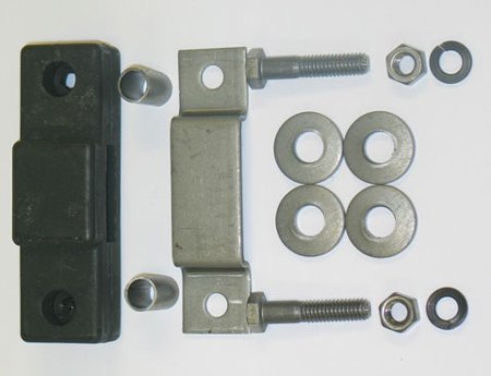 Muffler Hanger Insulator with Bracket & Hardware