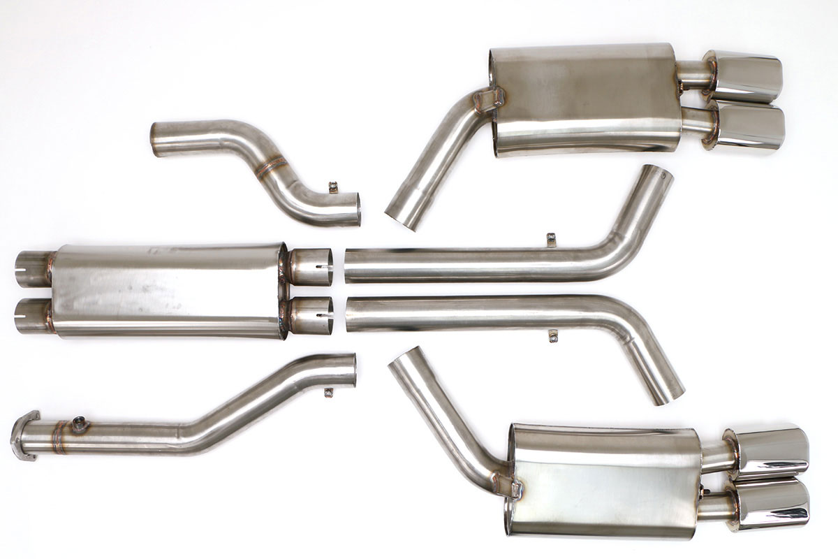 1996 Corvette 3 Inch Exhaust System Quad Tip 4.5 Inch ( Lt-4 )