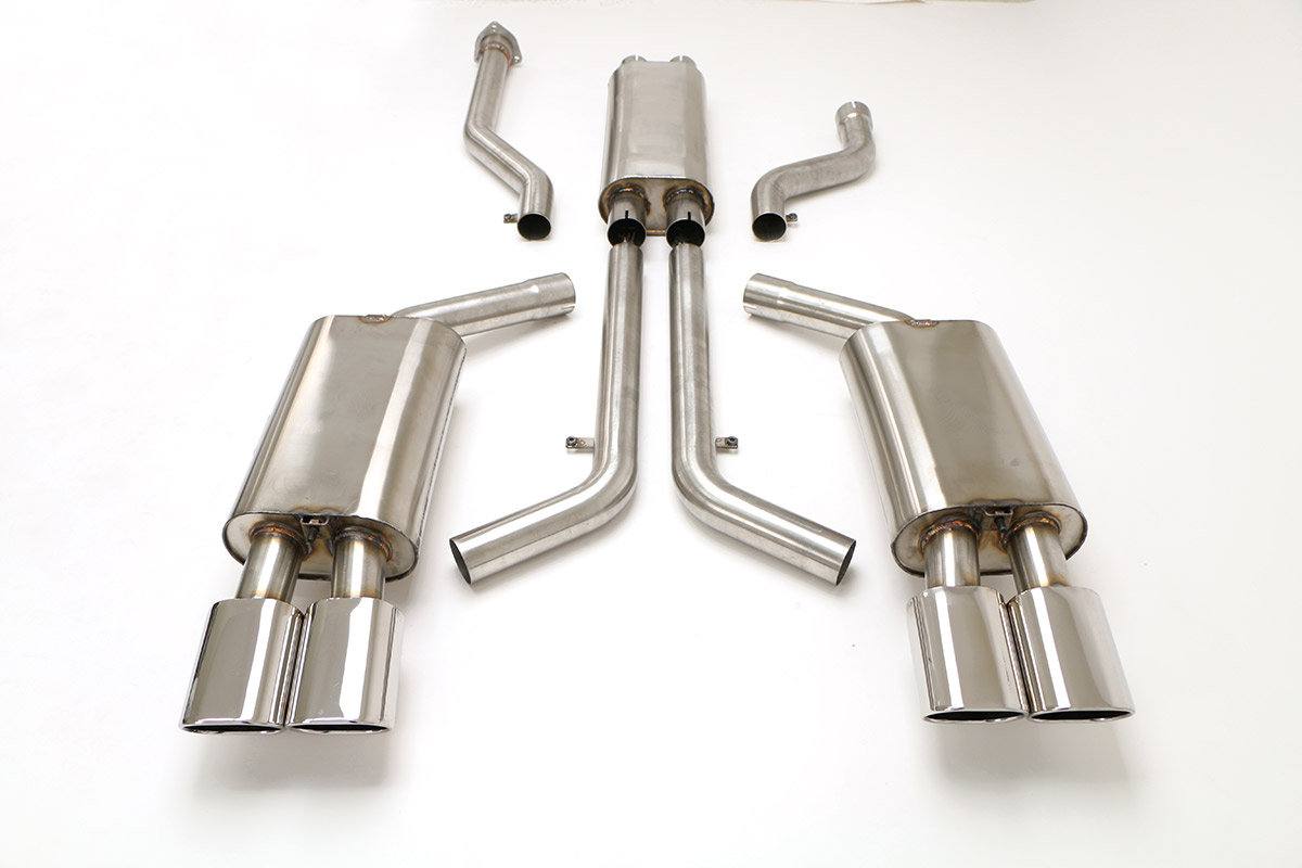1996 Corvette 2.5 Inch Exhaust System Quad Tip 4.5 Inch ( Lt-1 )