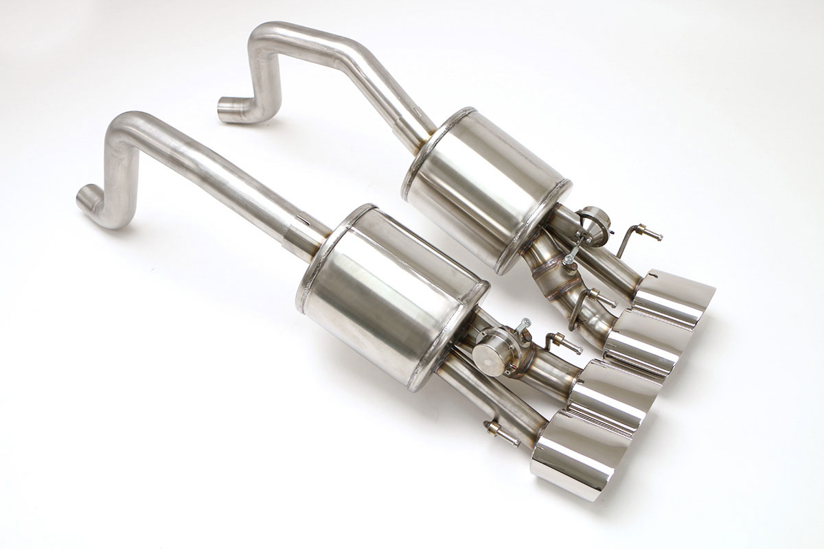 2005-2009 Corvette C6 Fusion Exhaust With Npp Quad Oval Tips