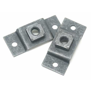 Gas Tank Rear Strap Retainer with Nut - pair