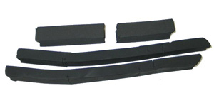 1979-1982 Corvette Radiator Core Support Seals Without AC (4 Pcs)