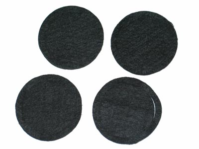 1968 Corvette Heater Lower Defroster Felt Seal - Pair