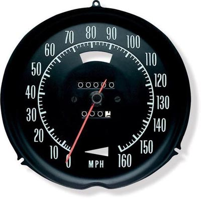 New Speedometer (Green Letters)