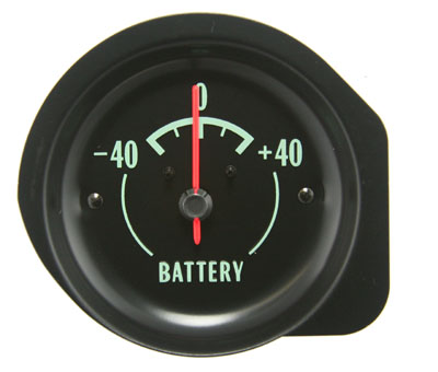 Amp Gauge with Green Letters