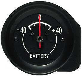 1972-1974 Corvette Amp Gauge With White Letters