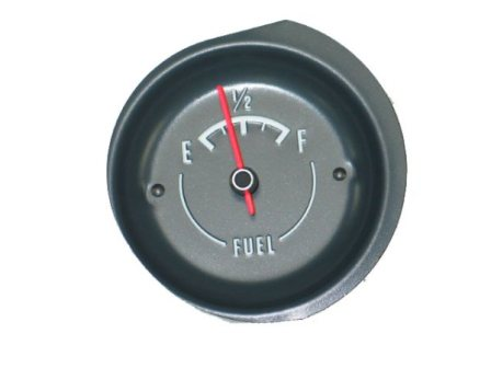 Fuel Gauge with White Letters