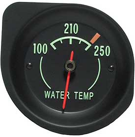 Temperature Gauge with Green Letters