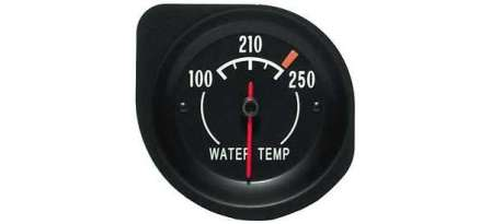 Temperature Gauge with White Letters