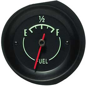 Fuel Gauge with Green Letters