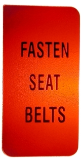Seat Belt Warning Lens