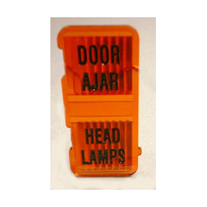 Headlight Door Ajar Dash Lens