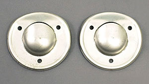 1968-1975 Corvette Coupe Deck Vent Drain Shield - Pair (stainless Steel)