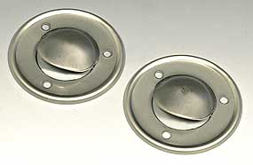 1968-1970 Corvette Convertible Deck Drain Shield - Pair (stainless Steel)