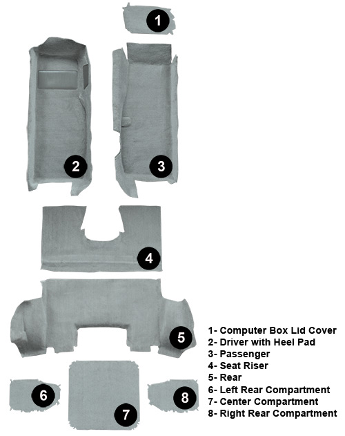 Coupe Carpet Set (Gray)