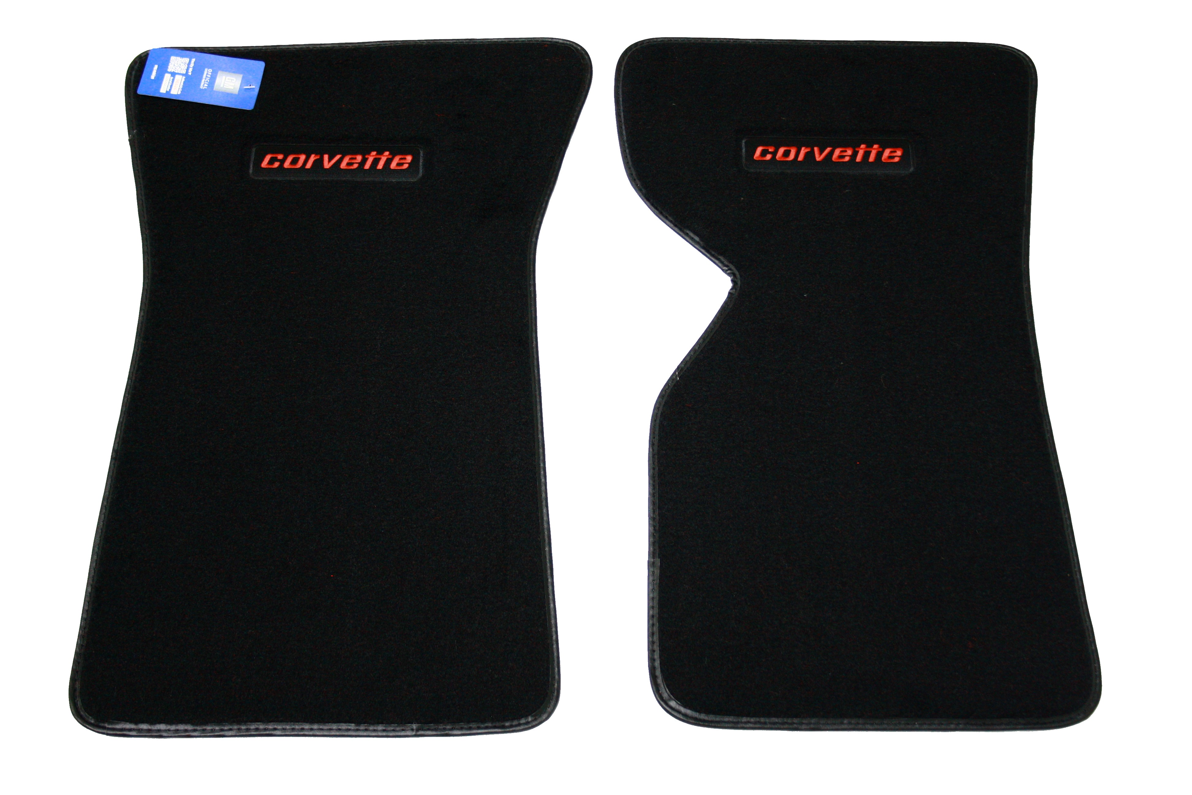 1968-1982 Corvette  Cutpile Floor Mats With Embroidered Logo ( Corvette )