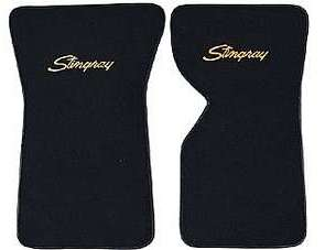 1968-1982 Corvette  Floor Mats Cutpile With Embroidered Logo ( Stingray )