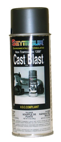 Cast Blast Gray Spray Paint High Temp 1200 Degree (12oz)
