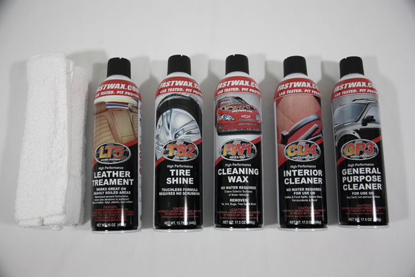 0 Corvette Fastwax Waterless Detail Kit 6 Pc