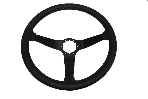 1977-1979 Corvette Rewrapped Steering Wheel  With Painted Spokes