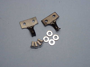 Corvette Jack Spring Mount Bracket With Rivets - Pair