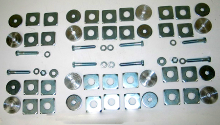 1968-1972 Corvette Coupe & Convertible Body Mount Kit With Bolts & Shims