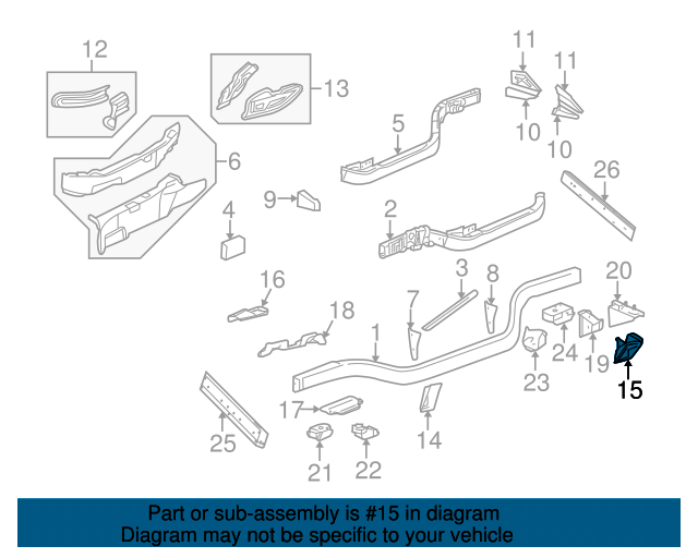 1997-2013 Corvette LH Shock Absorber Bracket