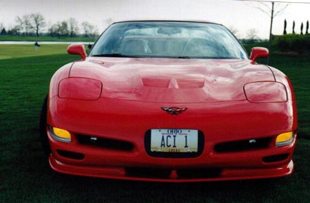1997-2004 Corvette Rear Hood Adjuster Bumper w// Bolt Red