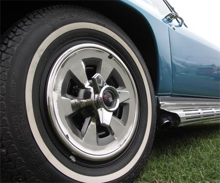 Corvette Hubcap Set With Spinners