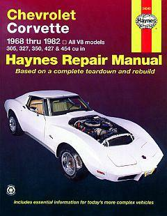 Haynes Corvette Repair Manual 68-82