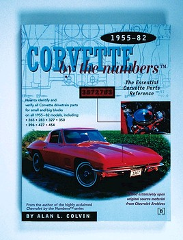 Corvette By The Numbers Book