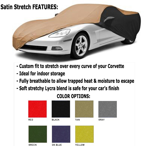 Car Cover Yellow Satin Stretch