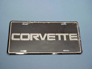 License Plate with Chrome Letters & Border ABS Plastic 53-79