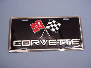 Metal License Plate Cross Flag 53-10