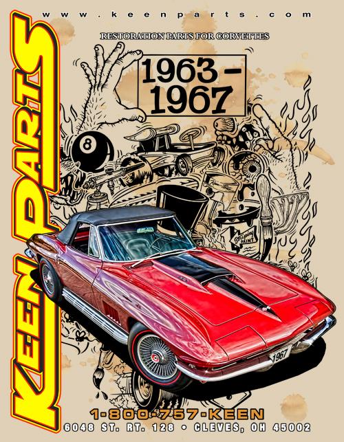 w// Retainer C3 Corvette 1968-1973 Accelerator Cable